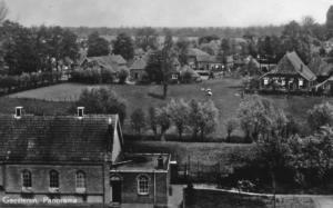 Mooi panorama huizen aan de Molenweg 1955